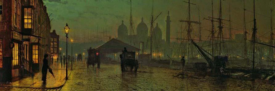 Prince's Dock, Hull 2 (John Atkinson Grimshaw festménye)